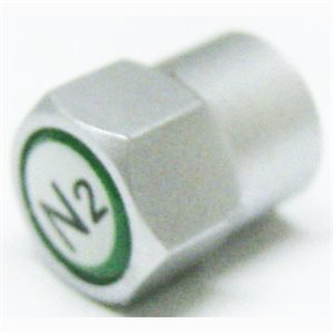 ANODIZED PLAS. N2 CAP 100/PK