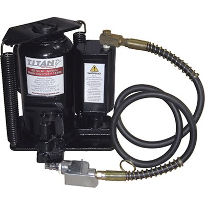 TITAN 20 TON AIR / HYDRAULIC BOTTLE JACK