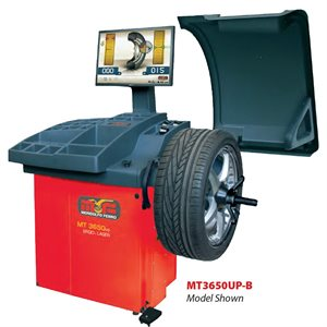 MT3650UP Digital Wheel Balancer With 3 Plane Data Entry, Light Truck Cone Kit, Collets and Lift